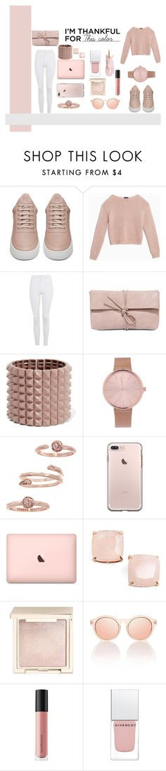 """""""Pink"""" by milsky ❤ liked on Polyvore featuring Filling Pieces, Max&Co., Topshop, LULUS, Valentino, Kendra Scott, Kate Spade, Jouer, Le Specs and Bare Escentuals"""