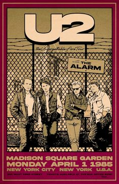 Tour Posters, Band Posters, Vintage Concert Posters, Vintage Posters, U2 Band, Music Bands, U2 Poster, Twilight, The Unforgettable Fire
