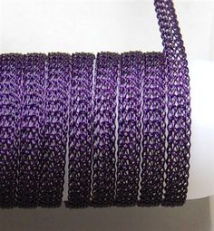 Purple 8 Needle Flat-5 feet