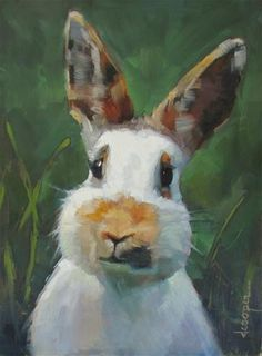 """Daily Paintworks - """"Im All Ears"""" - Original Fine Art for Sale - © Dana Cooper"""