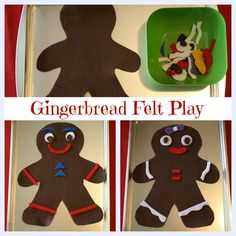 Make felt gingerbread cookies to decorate and use in dramatic play.