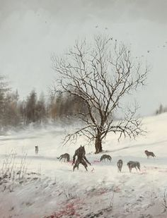 Fantasy Art Watch — Dinner in the Open Air by Jakub Rozalski Dark Fantasy Art, Fantasy Kunst, Dark Art, Dungeons And Dragons, Werewolf Art, Werewolf Drawings, Vampires And Werewolves, Art Watch, World Of Darkness