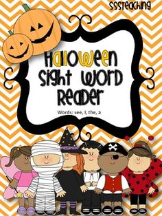 FREE Halloween Sight Word Reader (I, see, the, a)