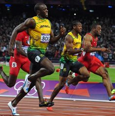 100m dash at the 2012 Olympics in London