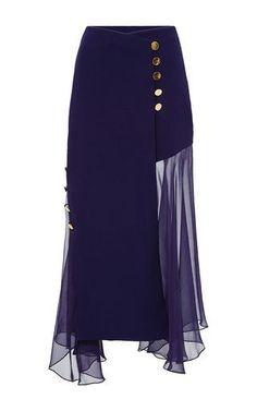 178027981f0e Crossover Skirt With Chiffon Inserts by PRABAL GURUNG for Preorder on Moda  Operandi Oblečenie Do Kancelárie