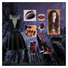 """""""Midnight"""" by keegan-culbreth ❤ liked on Polyvore featuring Varley, Christian Louboutin, Jimmy Choo, Michael Kors, Christopher Kane and Kate Spade"""