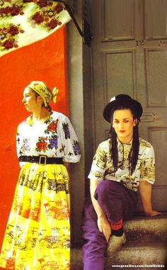 Foundry designer Sue Clowes and Boy George, 1981.