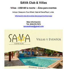 Villas  - US$149 la noche -  -Área para eventos.  Publicidad