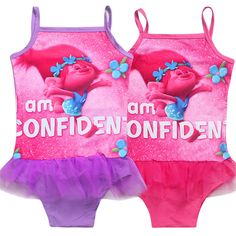 >> Click to Buy << 2017 Baby Girls Cartoon Trolls Swimsuit Children Swimming Bikini Type Clothes Costume Kids Dress Lace Cute Sweet Bathing Suits #Affiliate