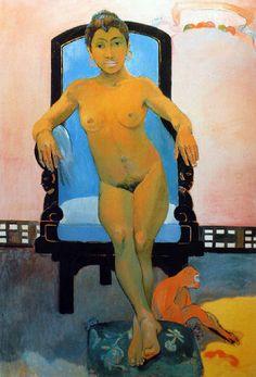 Paul Gauguin - Post Impressionism - Tahiti - Hannah la Javanaise - 1894