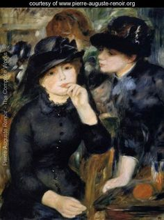 Girls In Black - Pierre Auguste Renoir