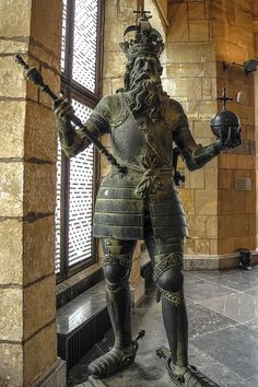 Original bronze statue of my ancestor Charlemagne from 1620 in the Coronation Hall inside the Aachen Rathaus (Charlemagne King's Hall) Aachen Germany | Flickr - Photo Sharing!