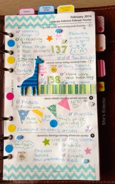She's Eclectic: My week in my Filofax #6 - close up