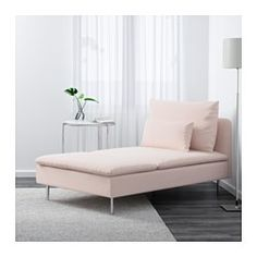 IKEA - SÖDERHAMN, Chaise, Samsta light pink, , Durable microfiber which is soft and smooth.SÖDERHAMN seating series allows you to sit deeply, low and softly with the loose back cushions for extra support.The cover is easy to keep clean as it is removable and can be machine washed.The various sections of the seating series can be connected together in different combinations or used separately.You can sit in comfort with a slight, pleasant resilience thanks to the elastic weave in the bottom…