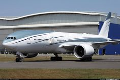 Airlines.net - Gorgeous livery for this Private B777-2KQ/LR Seen here parked while on an unusual visit of the model at Toulouse. T. Laurent.