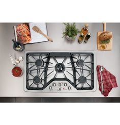 Buy the GE Stainless Steel Direct. Shop for the GE Stainless Steel Built-In Gas Cooktop with Integrated Griddle and save. Gas Stove Top, Thing 1, New Kitchen, Kitchen Ideas, Kitchen Stuff, Kitchen Designs, Cool Kitchens, Dream Kitchens, Kitchen Remodel