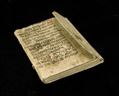 Photo: István Borbás/National Library of Sweden Cover of recycled manuscript on vellum. This type of binding is also known as monk binding. Sweden, c 1560.
