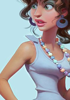 Picked up by CGchips. tutorials and news site… Female Character Design, Character Design References, Character Drawing, Comic Character, Game Character, Cartoon Faces, Girl Cartoon, Cartoon Art, Illustration Girl