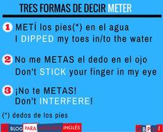 """""""3 formas de decir METER en inglés"""""""