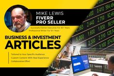 I will write expert business or investment articles