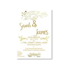 Forever & Always Evening Invitation. Beautiful matching invitations and stationery items available from Bride and Groom Direct.