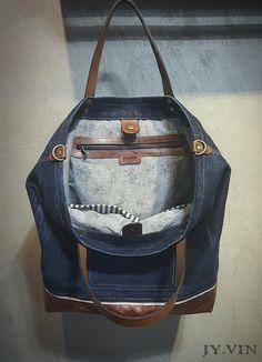 청바지리폼 북 데님 숄더백 : 네이버 블로그 Fashion Backpack, Denim Jeans, Backpacks, Bags, Canvas, Leather, Kitchen, Sewing Projects, Fabric Purses
