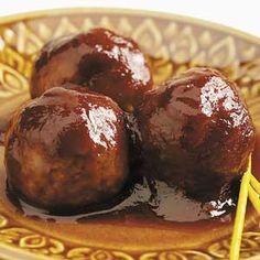 Saucy Asian Meatballs.
