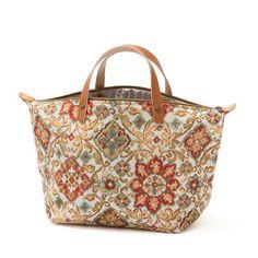 Carmen de bolso bolso de la lona flores guarnición en dril
