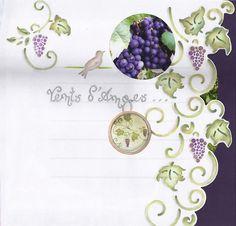 pochoir geant fleur de vigne