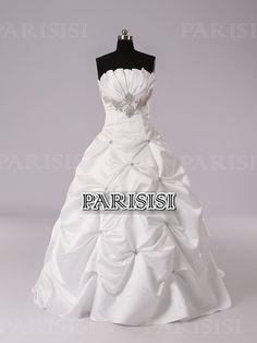 Pick Up Sin tirantes Tren Cepillo Champán vestidos de novia