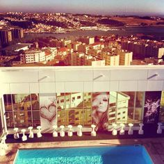 Views from the pool @ HF Ipanema Park hotel, Porto, Portugal.