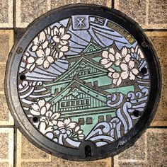 Si je connaissais déjà grâce au web lesjolies plaques d'égout japonaises, décorées de magnifiques dessins et parfois même en couleurs, c'était une aut