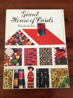 1960s vintage Eames Giant House of Cards by Otto Maier Verlag Ravensburg #eames #eameschair #eamestoy