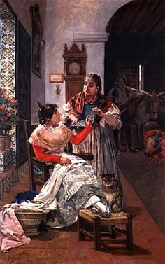 Valencianas Pintadas:  Vicente Nicolau Cotanda ( Valencia, 1852 -  1898)