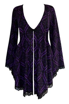 Plus Size Embrace Goth Corset Sweater Duster Jacket in Purple Tarot Plus Size Gothic Dresses, Victorian Corset, The Embrace, Duster Jacket, Maternity Sweater, Lace Corset, Gothic Outfits, Plus Size Tops, Cool Outfits