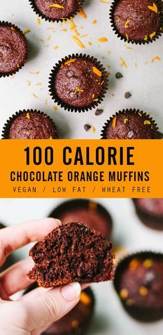 This was my attempt at this recipe and I have finally perfected it – the 100 calorie chocolate orange muffin! I came to the conclusion that in order to have a truly delicious chocolate-y muffin, y (Chocolate Orange Cake) Vegan Treats, Healthy Treats, Healthy Baking, Healthy Desserts, Healthy Breakfasts, Orange Recipes Healthy, Eating Healthy, Clean Eating, Healthy Cake Recipes