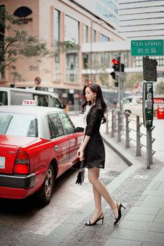 milkcocoa Beautiful Asian Women, Beautiful Legs, Korean Fashionista, Dress Skirt, Lace Dress, Glam Girl, Office Looks, Asia Girl, Korean Model