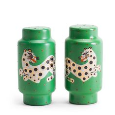 waylande gregory salt pepper shakers gold luxe gifts tabletop leopard glam accessories