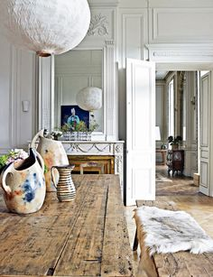 casual living in lyon, france. sfgirlbybay / bohemian modern style from a san francisco girl Scandinavia Design, Beautiful Interiors, Interiores Design, Style At Home, Home And Living, Interior Inspiration, Interior Architecture, Living Spaces, Interior Decorating