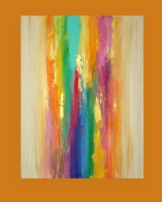 "SALE Take 20% OFF Art Acrylic Abstract Painting Original Canvas Art Titled: WATERFALL 9 30x40x1.5"" by Ora Birenbaum by OraBirenbaumArt on Etsy https://www.etsy.com/listing/202962930/sale-take-20-off-art-acrylic-abstract"