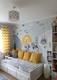 Boy Toddler Bedroom, Baby Boy Room Decor, Boys Bedroom Decor, Baby Room Design, Toddler Rooms, Baby Bedroom, Baby Boy Rooms, Boy Girl Room, Yellow Kids Rooms