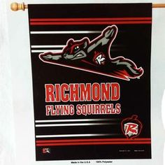 Richmond Flying Squirrels Banner - Black