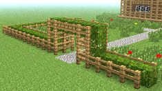 MINECRAFT: How to build little wooden fence