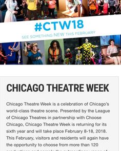 choosechicago.com - We are part of Chicago Theatre Week 2018! #ctw18 #suportthearts #chicago #theatre #chicagogram #saltboxtheatrecollective #tickets #discounts #plays #drama #comedy #musicals #deals #chicagostorefront