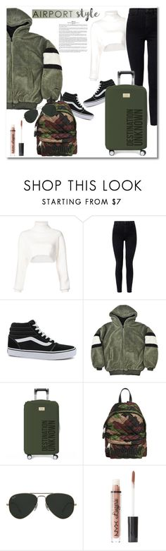 """""""Get the look Aiportstyle"""" by vkmd ❤ liked on Polyvore featuring Alexandre Vauthier, J Brand, Vans, Moschino, Ray-Ban, Charlotte Russe and airportstyle"""