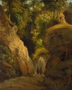 View Monks on the Steps Through a Rocky Gorge The Steps to the Grotta di san Francesco Alla Verna by Carl Blechen on artnet. Browse upcoming and past auction lots by Carl Blechen. Carl Blechen, Past, Artist, Ferdinand, Painting, Artworks, Past Tense, Artists, Painting Art