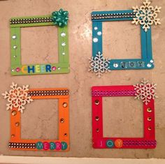 Xmas Popsicle stick frames & Photo Frames & Easy, Inexpensive, and Creative Christmas Crafts for Kids Xmas Popsicle stick frames & Photo Frames & Easy, Inexpensive, and Creative Christmas Crafts for Kids The post Xmas Popsicle stick frames Kids Crafts, Creative Crafts, Preschool Crafts, Diy And Crafts, Craft Projects, Craft Ideas, Diy Ideas, Simple Crafts, Creative Ideas For Kids