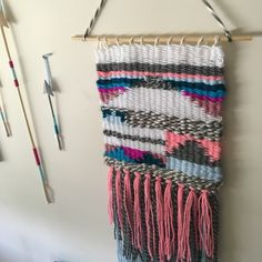 A personal favorite from my Etsy shop https://www.etsy.com/listing/485365685/ready-to-ship-colorful-chaos-woven-wall