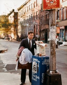 Joel Sternfeld A Lawyer with Laundry, New York, New York, October 1988 Stranger Passing