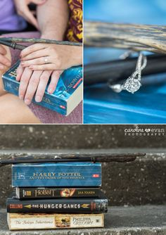 geeky nerdy harry potter and star wars props engagement session | Caroline & Evan Photography (www.carolineevan.com)